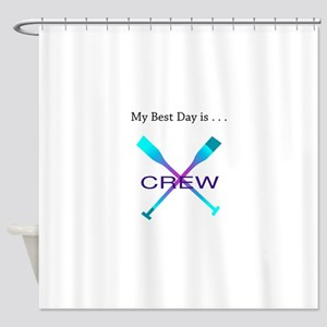 Best Day Rowing Crew Gifts Shower Curtain