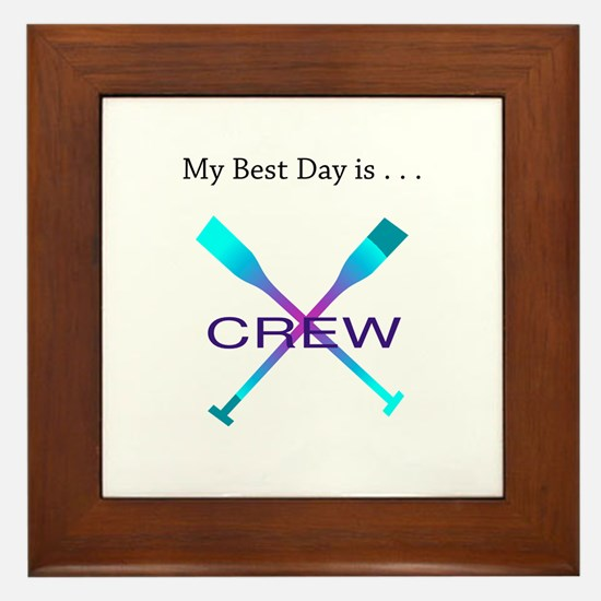 Best Day Rowing Crew Gifts Framed Tile