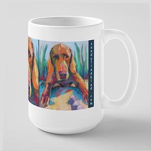 Scout The Weimaraner Dog Large Mugs