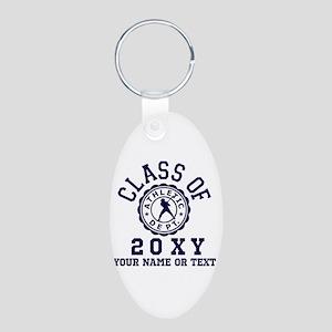 Class of 20?? Baseball Aluminum Oval Keychain
