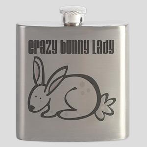 Crazy Bunny Lady Flask