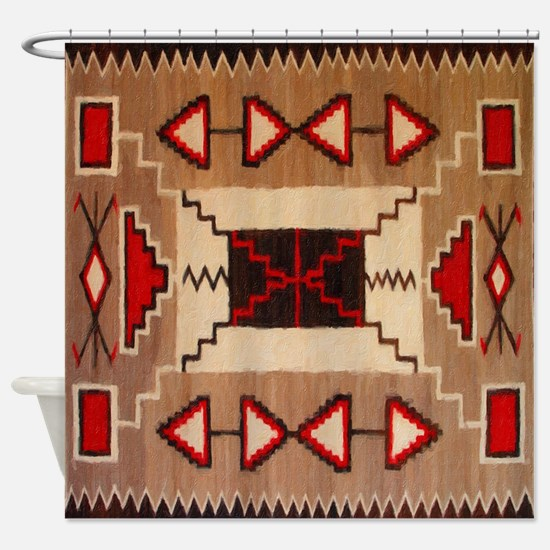 Indian Blanket 8 Shower Curtain
