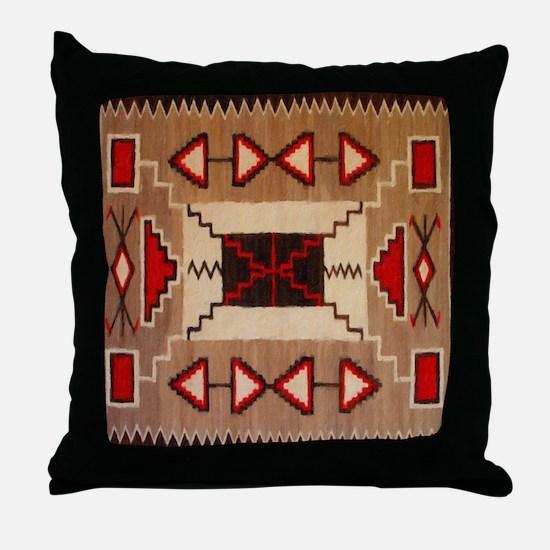 Indian Blanket 8 Throw Pillow