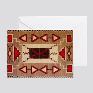 Native american greeting cards cafepress indian blanket 8 card greeting cards m4hsunfo