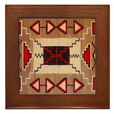Indian Blanket 8 Framed Tile