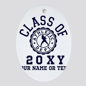 Class of 20?? Baseball Oval Ornament
