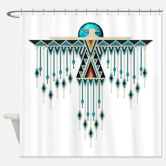 Southwest Native Style Thunderbird Shower Curtain