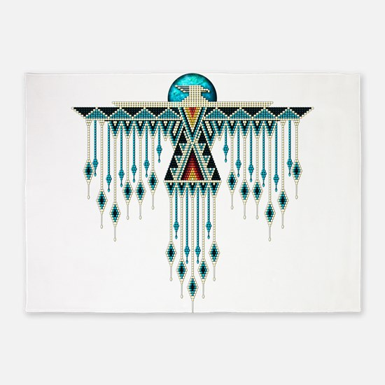 Southwest Native Style Thunderbird 5'x7'Area Rug