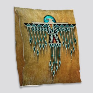 Southwest Native Style Thunder Burlap Throw Pillow