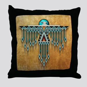 Southwest Native Style Thunderbird Throw Pillow