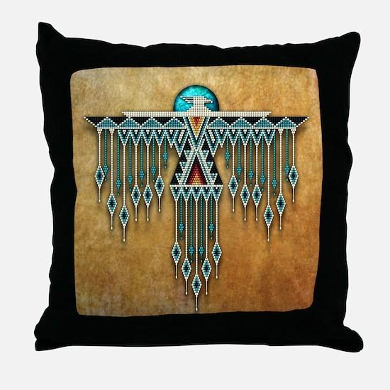 Southwest Native Style Thunderbird Throw Pillow