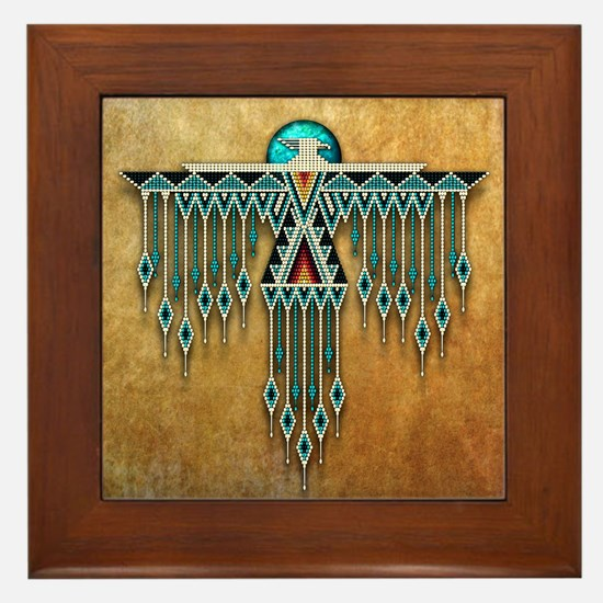 Southwest Native Style Thunderbird Framed Tile