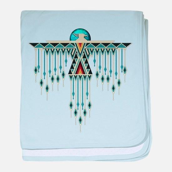 Southwest Native Style Thunderbird baby blanket