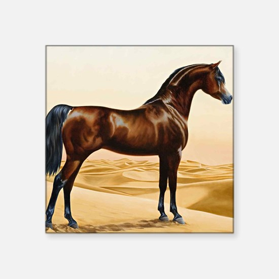 Vintage Arabian Horse Painting Sticker
