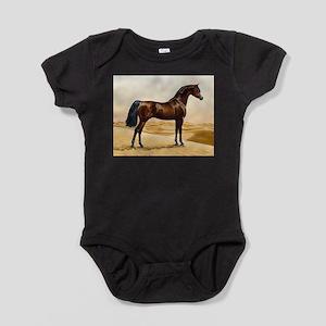 Vintage Arabian Horse Painting by Wi Baby Bodysuit