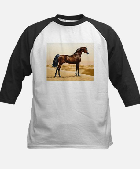 Vintage Arabian Horse Painting by Baseball Jersey