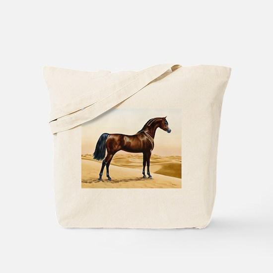 Vintage Arabian Horse Painting by William Tote Bag