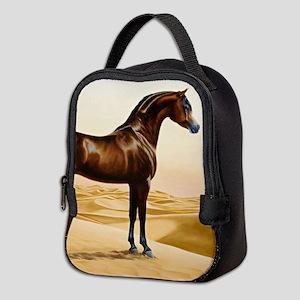 Vintage Arabian Horse Painting Neoprene Lunch Bag