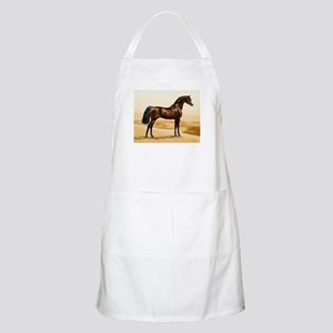 Vintage Arabian Horse Painting by William Ba Apron