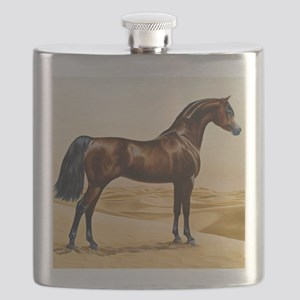 Vintage Arabian Horse Painting by William Ba Flask