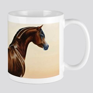 Vintage Arabian Horse Painting by William Bar Mugs