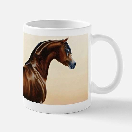 Vintage Arabian Horse Painting by William Bar Mugs