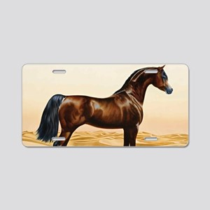 Vintage Arabian Horse Paint Aluminum License Plate