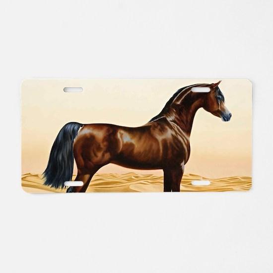 Vintage Arabian Horse Paint Aluminum License Plate