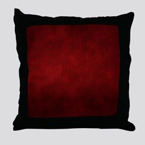 Maroon Red Throw Pillow