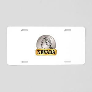 silver state nevada Aluminum License Plate