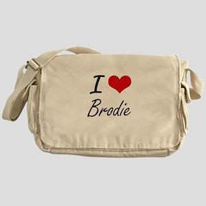 I Love Brodie Messenger Bag