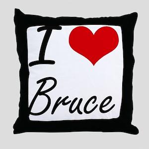 I Love Bruce Throw Pillow