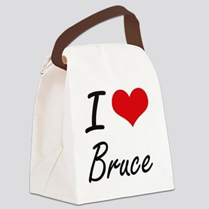 I Love Bruce Canvas Lunch Bag