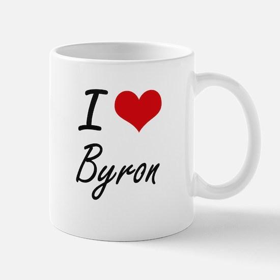 I Love Byron Mugs