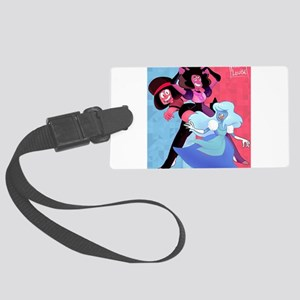 Space Rock Lesbians Large Luggage Tag