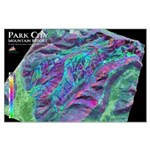 Park City 3dSkiMaps Large Poster