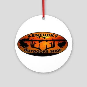 Kentucky Outdoors Shop Logo Round Ornament