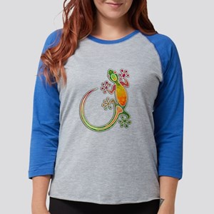 Gecko Floral Tribal Art Long Sleeve T-Shirt