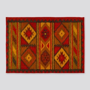 Indian Blanket 5 5'x7'area Rug