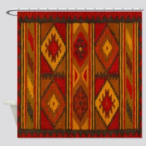 Indian Blanket 5 Shower Curtain