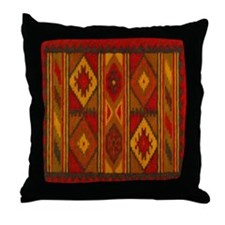 Indian Blanket 5 Throw Pillow