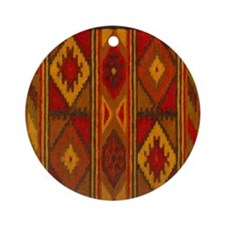 Indian Blanket 5 Ornament (Round)