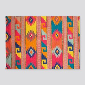 Indian Blanket 4 5'x7'Area Rug