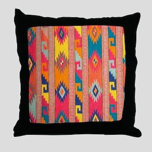 Indian Blanket 4 Throw Pillow