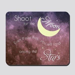 Motivational Les Brown Shoot for the Moo Mousepad