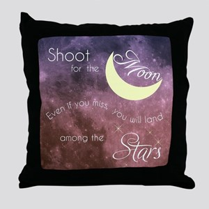 Motivational Les Brown Shoot for the Throw Pillow