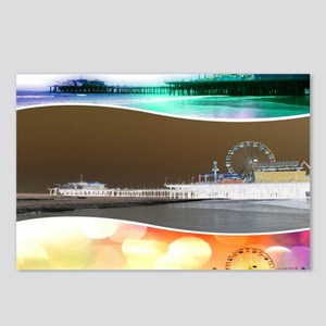 Santa Monica Pier Tricolo Postcards (Package of 8)