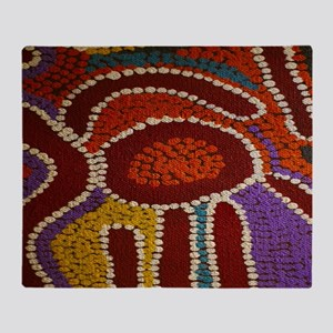 Australian Aboriginal Throw Blanket