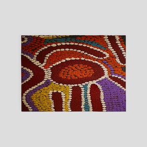 Australian Aboriginal 5'x7'Area Rug