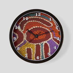 Australian Aboriginal Wall Clock